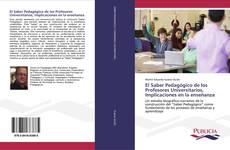 Portada del libro de El Saber Pedagógico de los Profesores Universitarios, Implicaciones en la enseñanza