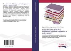 Обложка Procedimiento didáctico-matemático para el ingreso a la universidad