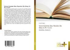 Bookcover of Vivre Comme Des Paroles De Dieu (1 Pi. 4,11)