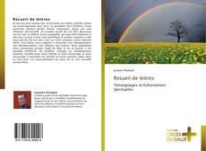 Copertina di Recueil de lettres