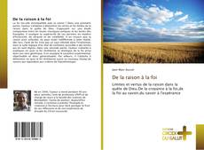 Bookcover of De la raison à la foi