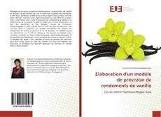 Обложка Elaboration d'un modèle de prévision de rendements de vanille
