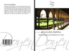 Bookcover of Klosterschule Roßleben