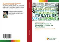Capa do livro de Os Procedimentos do Jornalismo Literário na Revista Piauí