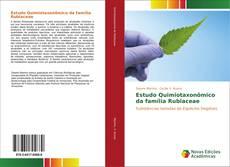 Capa do livro de Estudo Quimiotaxonômico da família Rubiaceae