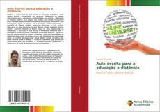 Buchcover von Aula escrita para a educação a distância