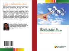 Обложка O texto no nível da microestrutura: coesão