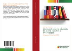 Capa do livro de Língua estrangeira, educação de jovens e adultos e emancipação