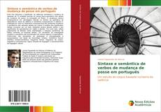 Portada del libro de Sintaxe e semântica de verbos de mudança de posse em português