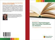 Capa do livro de Ensino e Aprendizagem dos Conceitos Científicos em História