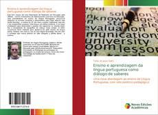 Portada del libro de Ensino e aprendizagem da língua portuguesa como diálogo de saberes