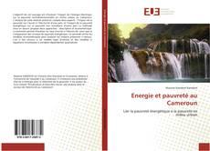 Couverture de Energie et pauvreté au Cameroun