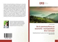 Bookcover of De la permaculture au tourisme : transposition d'un concept