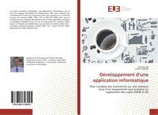Couverture de Développement d'une application informatique