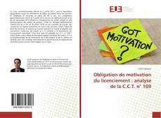 Bookcover of Obligation de motivation du licenciement : analyse de la C.C.T. n° 109