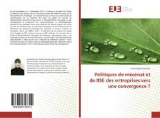 Bookcover of Politiques de mécénat et de RSE des entreprises:vers une convergence ?