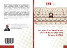 Copertina di Les situations d'exclusivite en droit des sûretés dans l'espace OHADA