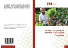 Обложка Usinage de quelques Plantes Industrielles Tropicales