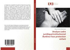 Bookcover of Analyse cadre juridique/institutionnel Burkina Faso protection enfant