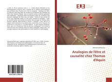 Buchcover von Analogies de l'être et causalité chez Thomas d'Aquin
