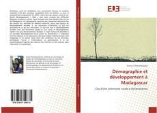 Buchcover von Démographie et développement à Madagascar