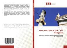 """Borítókép a  Vers une class action """"à la française"""" - hoz"""