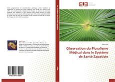 Обложка Observation du Pluralisme Médical dans le Système de Santé Zapatiste