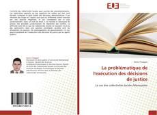 Buchcover von La problématique de l'exécution des décisions de justice