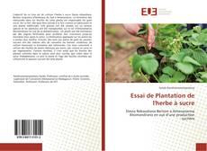 Couverture de Essai de Plantation de l'herbe à sucre