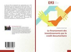 Couverture de Le financement des investissements par le credit documentaire