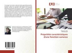 Bookcover of Propriétés caractéristiques d'une fonction variance