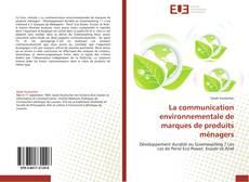 Capa do livro de La communication environnementale de marques de produits ménagers