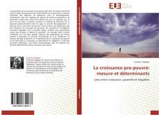 Capa do livro de La croissance pro-pauvre: mesure et déterminants