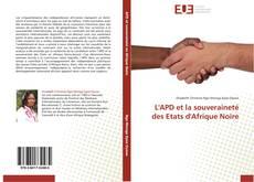 Обложка L'APD et la souveraineté des Etats d'Afrique Noire