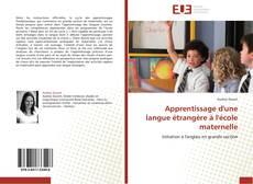 Bookcover of Apprentissage d'une langue étrangère à l'école maternelle