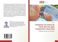 Couverture de Validation de critère du CSI-D dans les âgés hospitalisés à Kunming