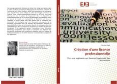 Création d'une licence professionnelle kitap kapağı