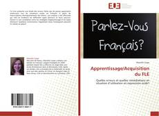 Couverture de Apprentissage/Acquisition du FLE