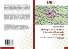 Capa do livro de Stratégies de traduction interculturelle dans le sous-titrage