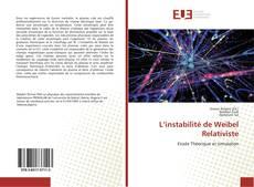 Portada del libro de L'instabilité de Weibel Relativiste