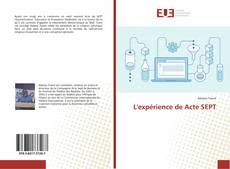 Bookcover of L'expérience de Acte SEPT