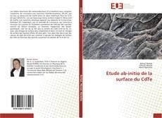 Bookcover of Etude ab-initio de la surface du CdTe