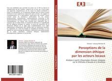 Bookcover of Perceptions de la dimension éthique par les acteurs locaux