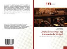 Portada del libro de Analyse du secteur des transports du Sénégal