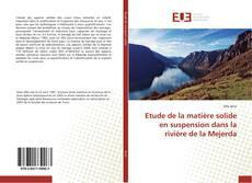 Обложка Etude de la matière solide en suspension dans la rivière de la Mejerda