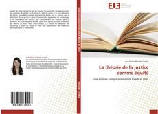 Capa do livro de La théorie de la justice comme équité