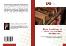 Buchcover von Etude linguistique du Cuisinier françois de La Varenne (1651)