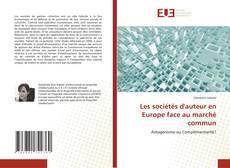 Couverture de Les sociétés d'auteur en Europe face au marché commun