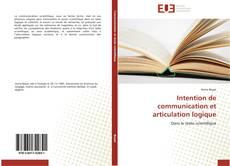 Couverture de Intention de communication et articulation logique