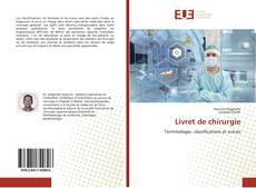 Copertina di Livret de chirurgie